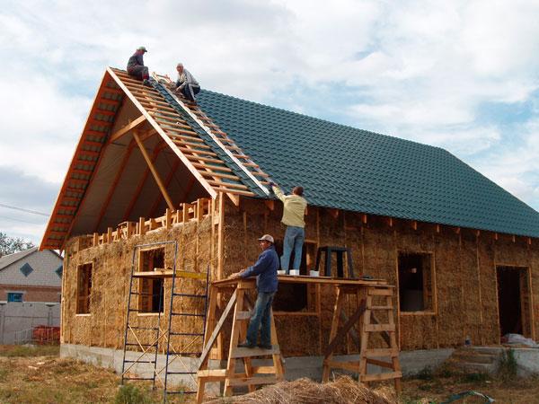 Строительство домов из соломенных блоков